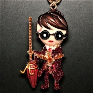 Jewelry - HARRY POTTER Racing Broom Quidditch Golden Snitch